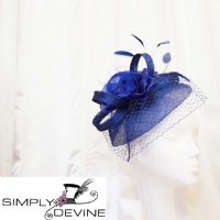 Cute royal blue fascinator 13782